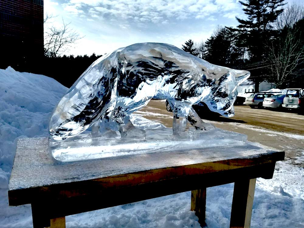 fox carvd in ice